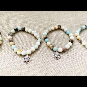 New Amazonite gemstones bracelet